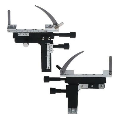 Microscope Attachable Mechanical Stage X-Y Moveable Caliper Vernier with Scale e