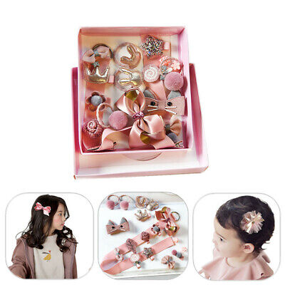 18Pcs Head wear Set Child Elastic Bow knot Hair Clips Barrette Hairpin Xmas Gift