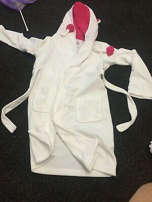 girls dressing gown 9-10 very catalogue ex con very soft with hood