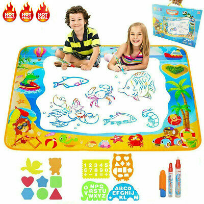 Kids Aqua Doodle Water Painting Drawing Mat Board Magic Pens Toy 29*19cm AU