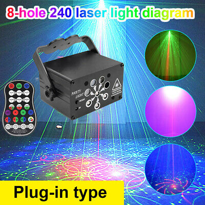 60 Pattern LED Stage Lighting RGB Laser Projector Disco Party Club DJ Xmas Light