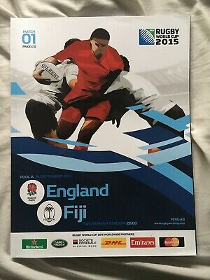 2015 rugby world cup programme (England Vs Fiji)