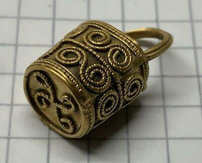 Viking/Norse pure Gold Basket Pendant with Filigree ban  8th century AD stunning