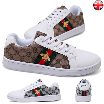 Mens Luxury Casual Skate Shoes Sneakers Fashion Flats Pump Work Trainers Lace Up