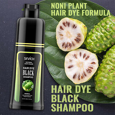 Sevich New Noni Plant Hair Dye Black Shampoo 250ml  Only 5 Minutes cover gray