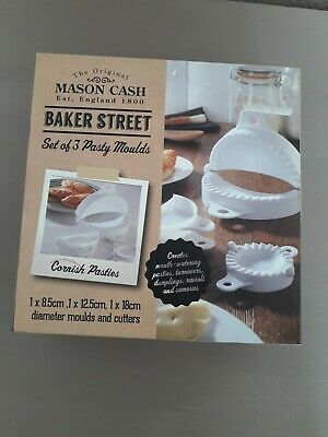 NEW Set Of 3 Mason Cash,  Pastry & Turnover Moulds - Samosas, Ravioli, pasties