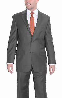 Mens 38R Michael Kors Modern Fit Olive Green Stepweave Two Button Wool Suit 3...