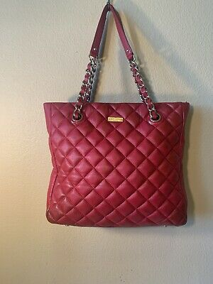 Kate Spade New York Gold Coast Sierra Quilted Leather Shoulder Bag Tote RED
