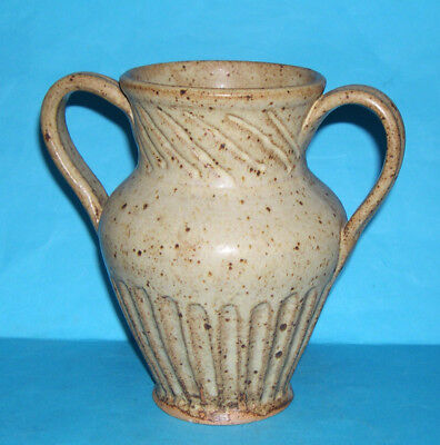 David Leach Friars Aylesford Studio Pottery - Attractive Twin Handled Vase (M.M)