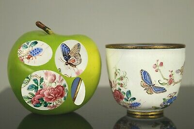 A fine Chinese probably Qianlong period Canton enamel butterfly cup 18th/19thc