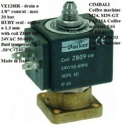 SAN MARCO,3-WAY SOLENOID VALVE PARKER 24V 50/60Hz,1120350,FAEMA,CIMBALI,Coffee m