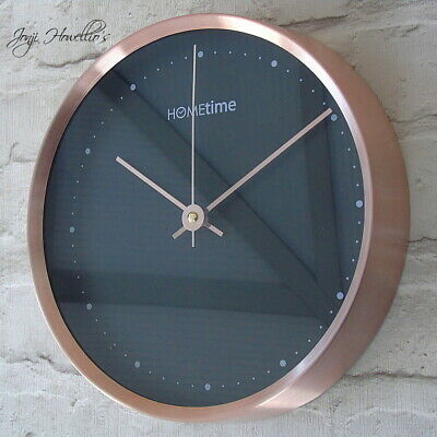 Copper Black Aluminium Wall Clock Modern CLOCK 25 cm Modern Home Deco