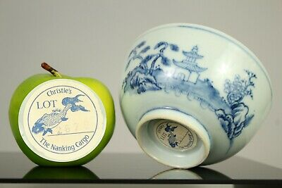 A Chinese blue & white Nanking cargo Qianlong period bowl, Christie's provenance