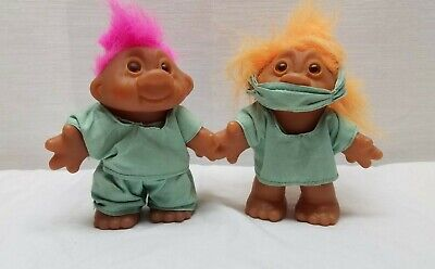 """Vintage Troll Doll Action Figure Toy DAM Norfin 5"""" 80s Lot Surgeon Doctor Dr."""