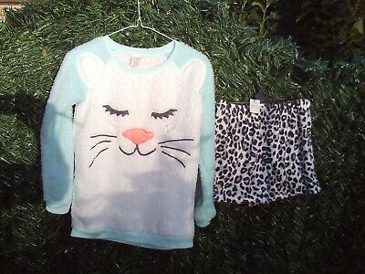 Girl's pyjama / sleepwear set  top and shorts - Cat & Jack - size L (age 10/12)