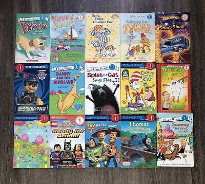 RANDOM Lot of 15 LEVEL 1 Early Readers Learning Childrens Books Paperback Boy