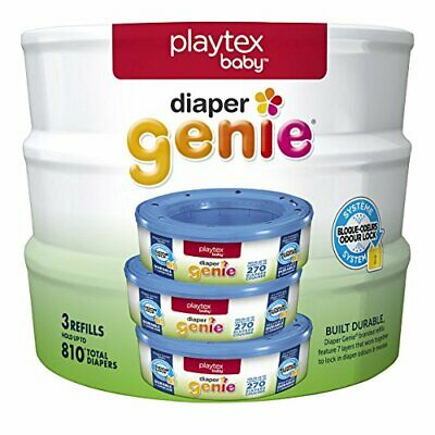 3 Packs Of Playtex Diaper Genie Refill, 810 Count