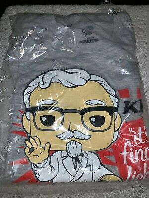 Funko Exclusive Ad Icons: KFC  Colonel Sanders Pop Tee size XSmall T-shirt only