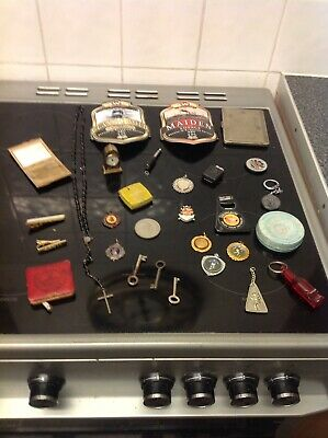 Joblot Mixed Items Medals,compact Stratton, Ect