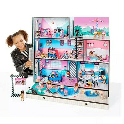 LOL Surprise Doll House With 85+ Surprises Wooden Multi Story Colorful Girls-NEW