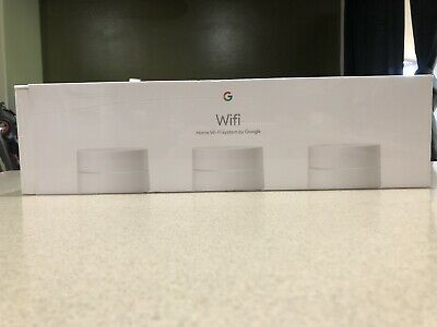 Google Wifi AC1200 Dual-Band Mesh Wi-Fi System – Pack of 3,White