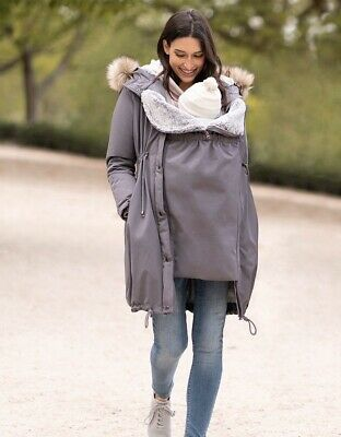 BNWT - Seraphine Slate Maternity Winter 3 In 1 Parka Coat *Size 12* Sold Out