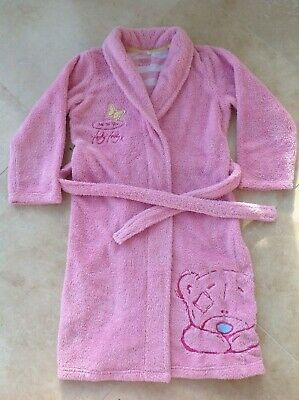 Girls M&S  Tatty Teddy dressing gown bath robe AGE 9-10