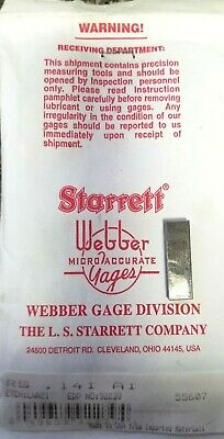 Starrett Gage Block & Spacer RS 141 A1