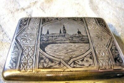 Extrely Fine Imperial Russian Silver (84) Neillo Cigarette Case, Moscow c.1890