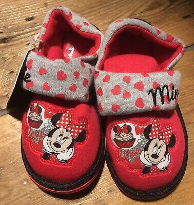 ~New~ Girls Disney Minnie slippers size Uk 12 Kids