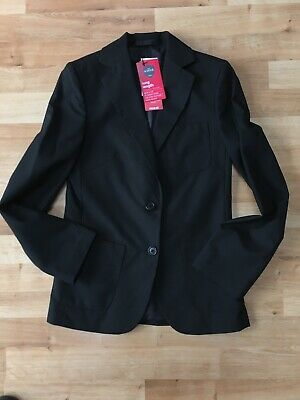 Marks & Spencer Girls Black School Blazer, Age 11 Long, BNWT