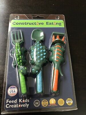 Constructive Eating 3 Piece Toddler Cutlery New