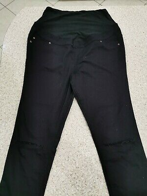 New Look Over The Bump Maternity Jeggings Jeans Size 12 ripped knee detail
