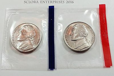 1978 JEFFERSON NICKEL SET BOTH P /& D MINTS IN MINT CELLO FREE SHIPPING 2 COINS