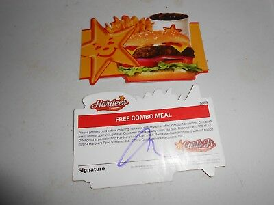 Lot of 10 Hardee's/Carl's Jr. Combo Meal Cards