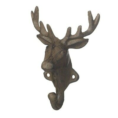 *SALE PRICE* New cast iron vintage deer/ Stag shaped hook rustic country