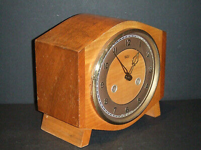 Vintage Smiths Enfield 8 Day Striking Mantel Clock for Restoration