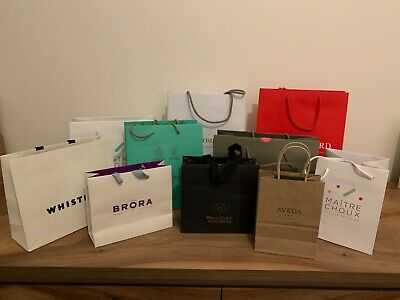 10 Assorted Designer Paper Shopping Carrier Bags