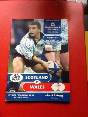 Scotland v Wales Rugby Union Programme plus Ticket 18/01/97