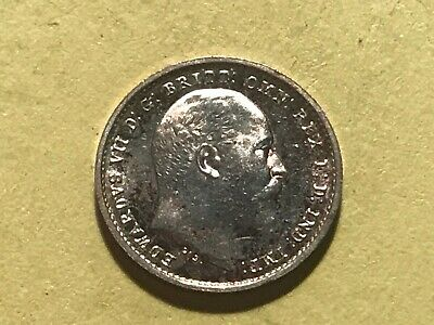 1907 Edward VII Maundy Two Pence (2D) - Uncirculated Condition