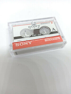 Sony MC-60 MC60 60 Minutes MICRO Cassette Tape for Voice Recorders Dictaphone