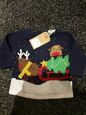 Next Baby Christmas Jumper Boys Or Girls New   Age 3 Month   Bnwt