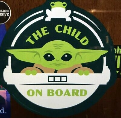 Disney Parks Official Magnet Baby Yoda The Child On Board Mandalorian Star Wars