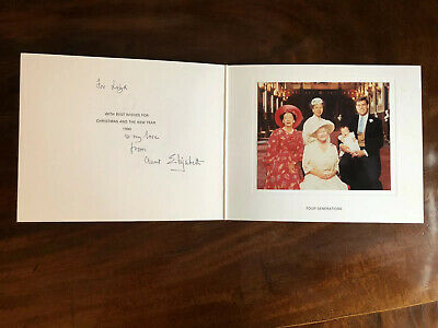 Christmas Card Elizabeth Queen Mother Royal Provenance Royalty Signed Autograph