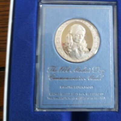 1974 Franklin Mint Mother's Day Commemorative Proof Silver medal