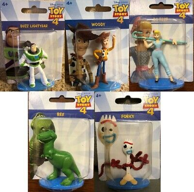 Disney Pixar Toy Story 4 Mini Action Figures - Mattel - Buzz Lightyear, Woody ++