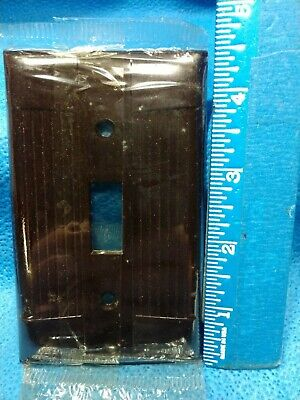 Vintage NOS EAGLE BAKELITE Wall Plate BROWN Switch Plate One Gang Tuxedo Cover