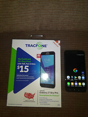 Tracfone Samsung Galaxy J7 Sky Pro with Tracfone Minutes, 10.4 Years of Service