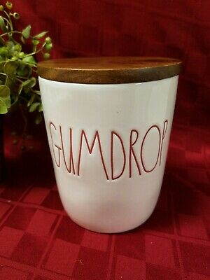 """NEW"" Rae Dunn by Magenta Christmas ""GUMDROP"" Cellar Canister (HTF)"