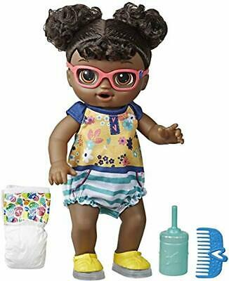 Baby Alive Step 'N Giggle Baby Black Hair Doll with Light-Up Shoes, Responds w